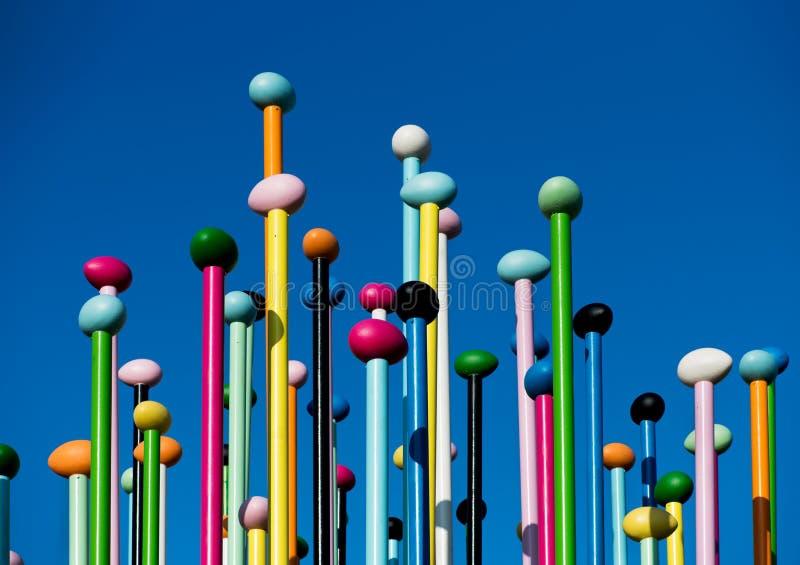 Kolorowa Coloris sztuki instalacja w miasta życiu fotografia stock