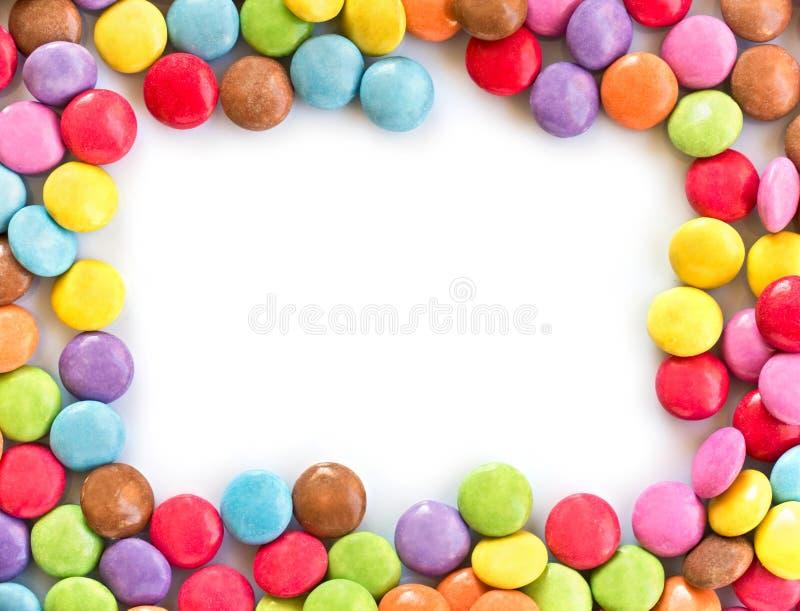 Kolorowa cukierek rama obrazy royalty free