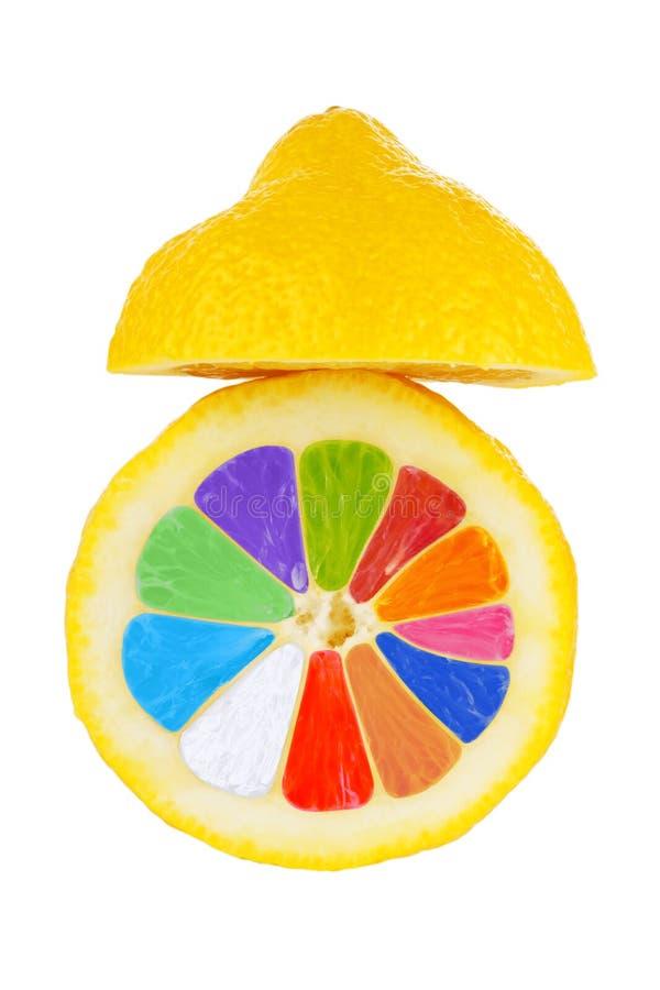 kolorowa cytryna fotografia stock
