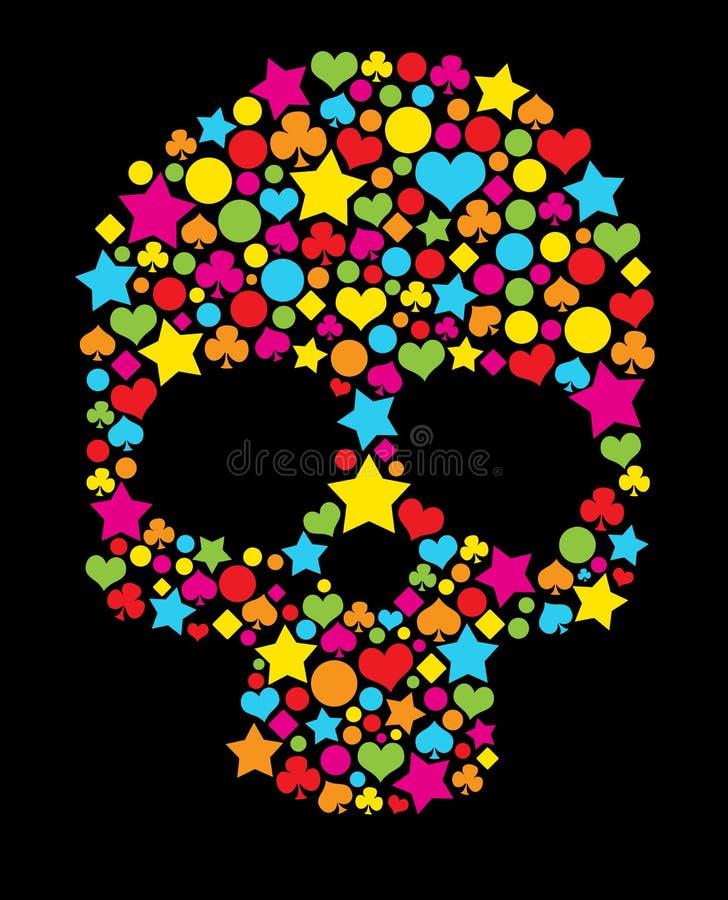 Kolorowa czaszka ilustracji