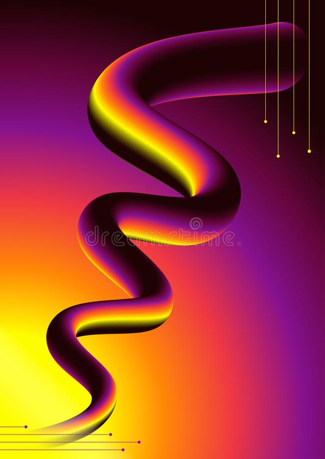 Kolorowa 3d mieszanka i abstrakta 3d kolorowy kształt royalty ilustracja