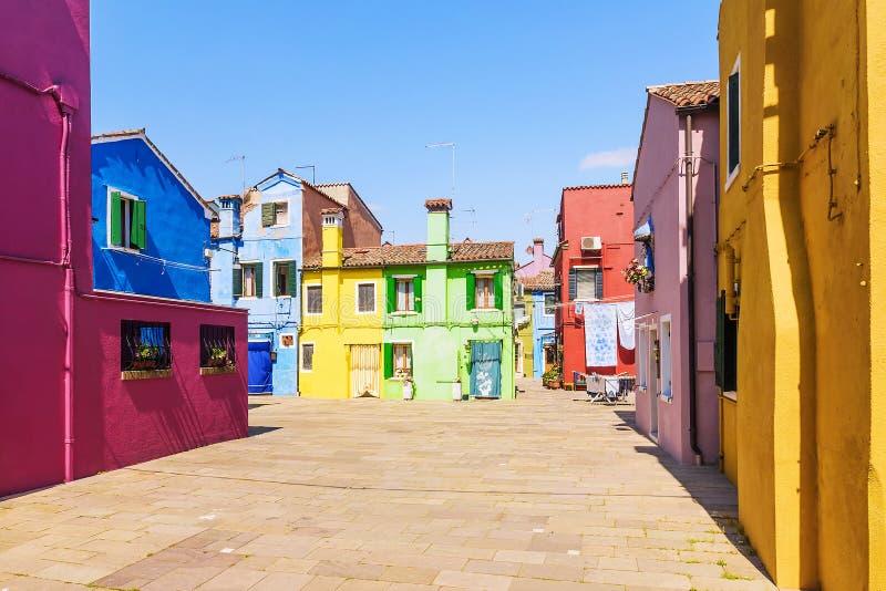 Kolorowa domu Burano wyspa, Wenecja fotografia stock