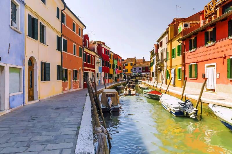 Kolorowa domu Burano wyspa, Wenecja zdjęcia stock