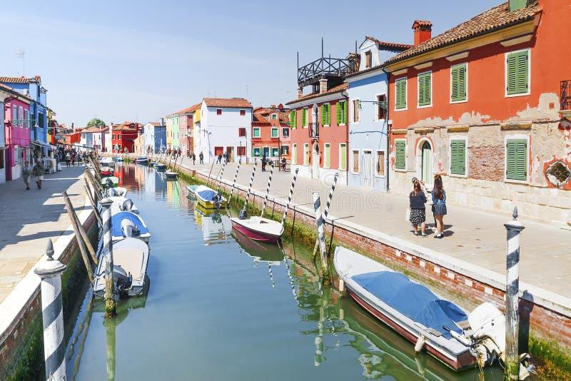 Kolorowa domu Burano wyspa, Wenecja obrazy stock
