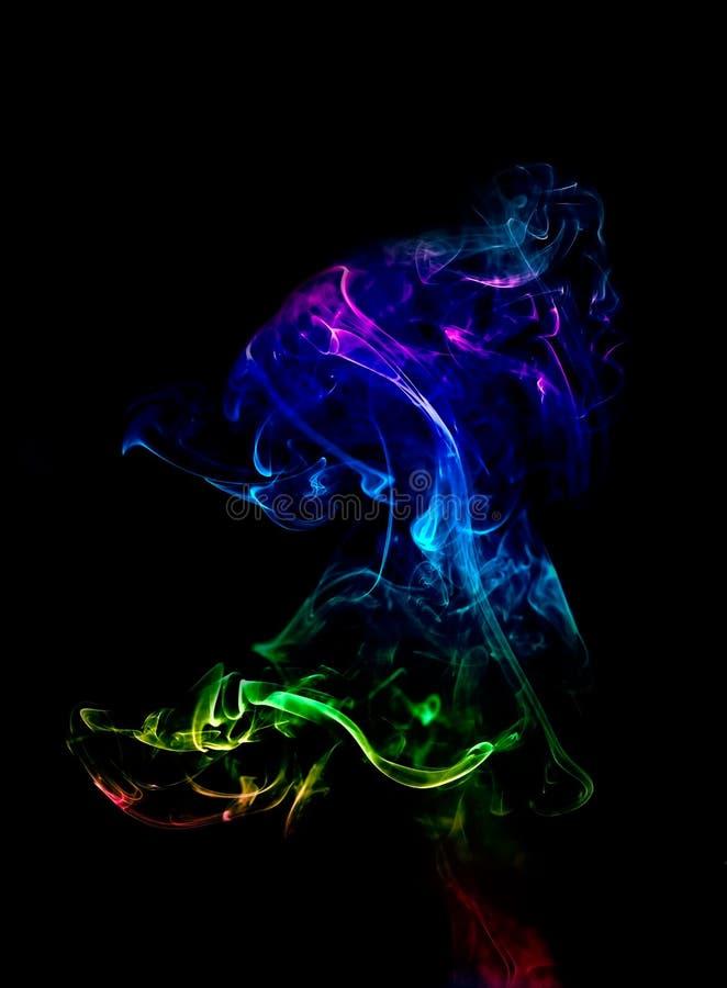 Kolorowa dymna abstrakcjonistyczna figurka obraz stock