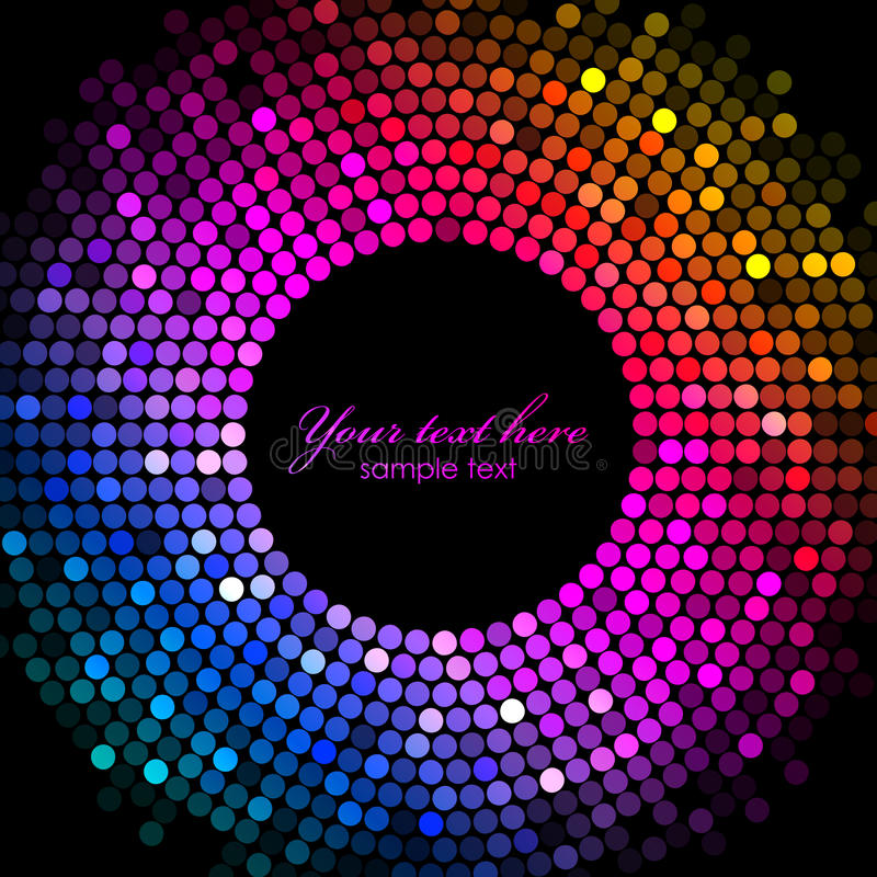 Kolorowa dyskotek świateł rama ilustracji