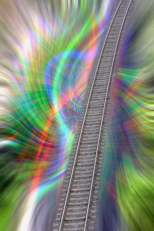 Kolorowa fantazi linia kolejowa fotografia stock