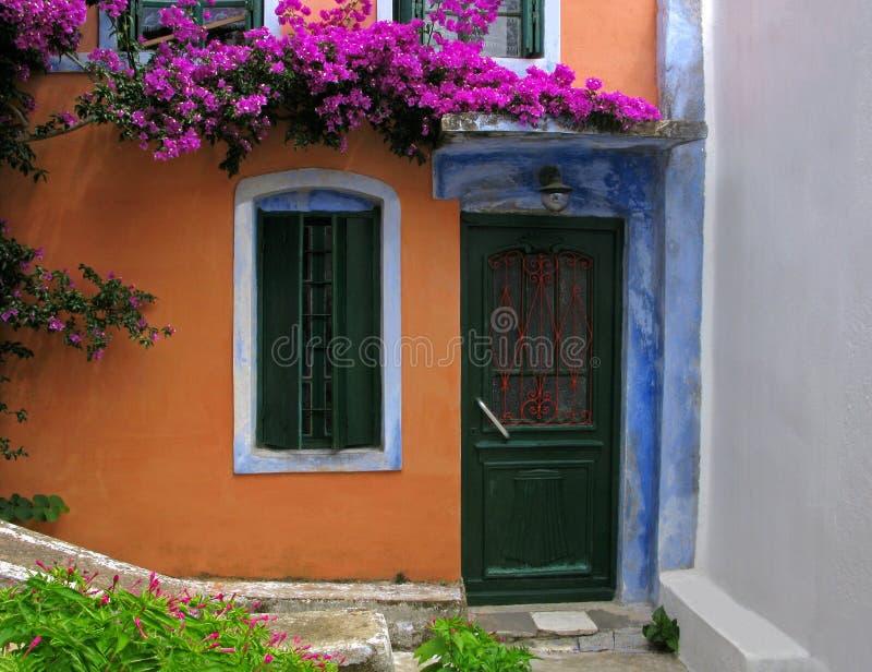 Kolorowa fasada stary dom obraz stock