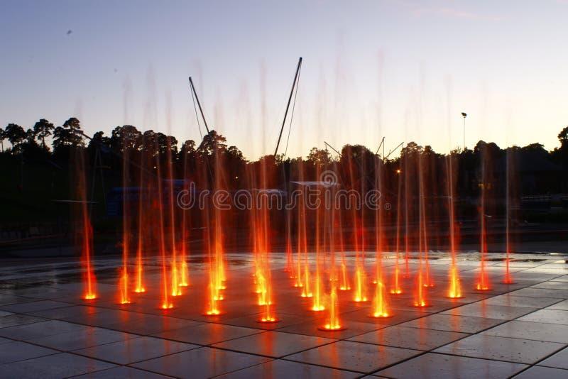 kolorowa fontanna obrazy royalty free