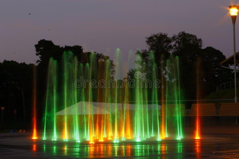 kolorowa fontanna zdjęcie royalty free