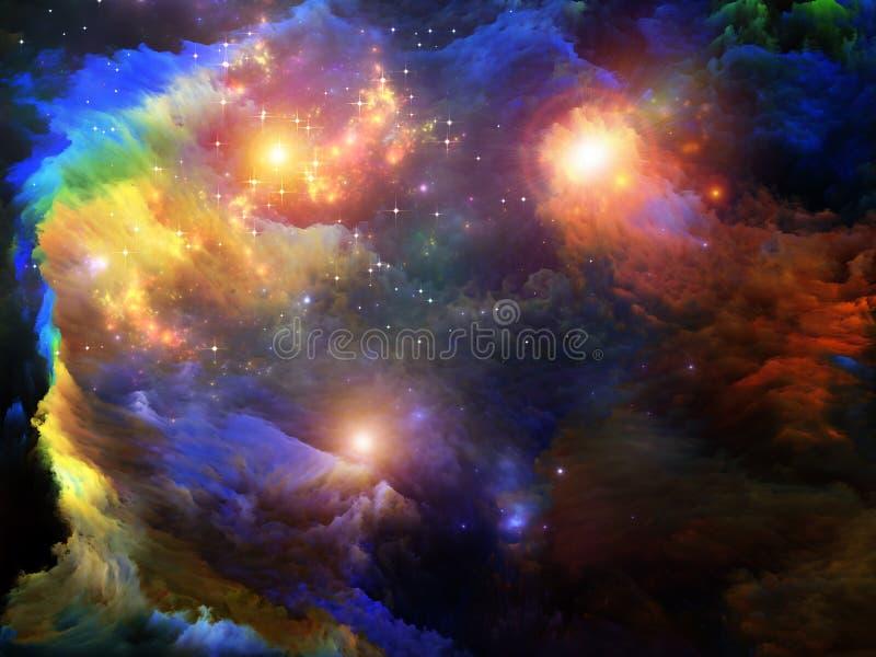 Kolorowa Fractal farba ilustracja wektor