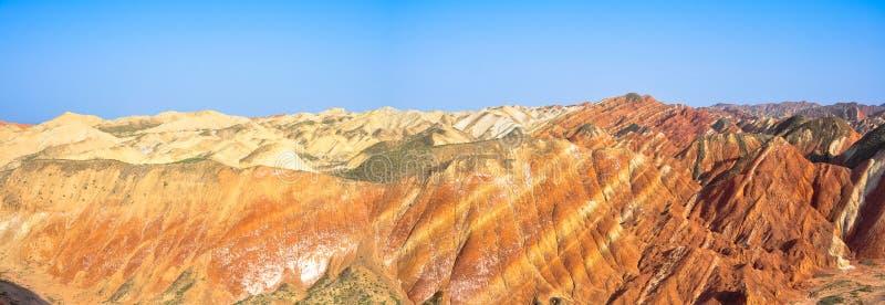 Kolorowa góry panorama fotografia royalty free