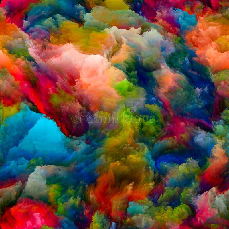Kolorowa G?sta farba ilustracja wektor