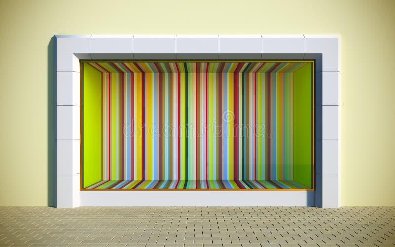 kolorowa gablota wystawowa ilustracji