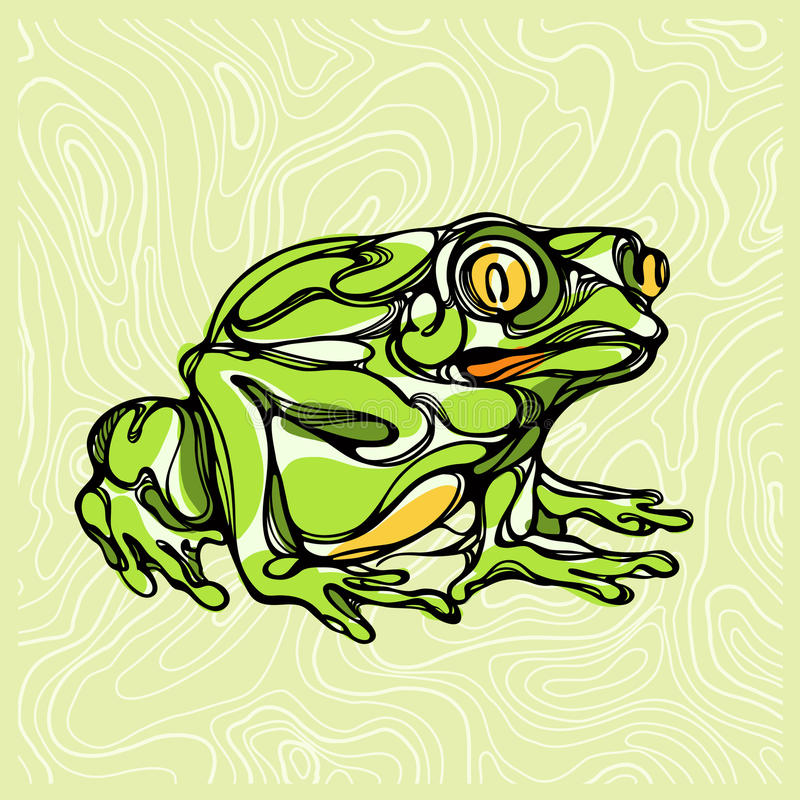 Kolorowa ilustracja żaba 1 ilustracja wektor