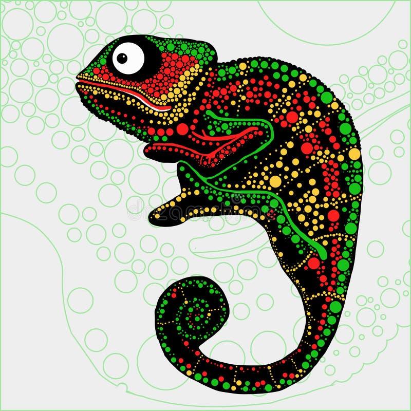 Kolorowa ilustracja kameleon ilustracja wektor