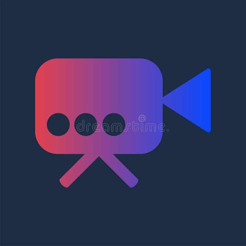 Kolorowa kamera dla Multimedialnej produkcji ikony ilustracja wektor