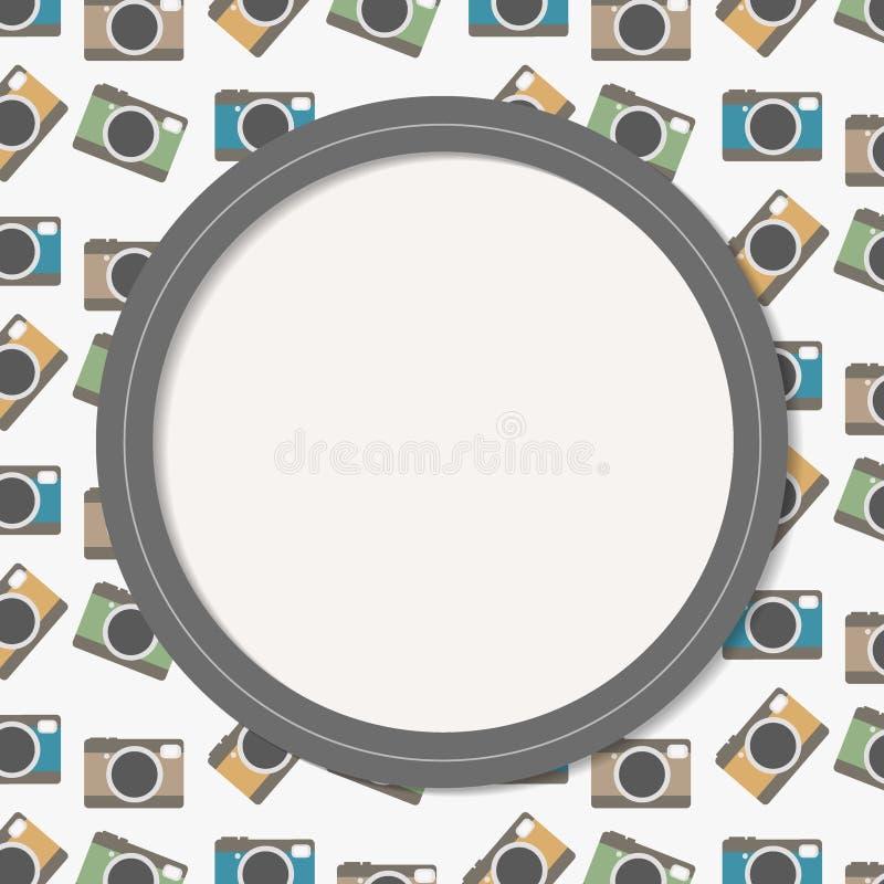 Kolorowa kamery zaproszenia karta ilustracja wektor