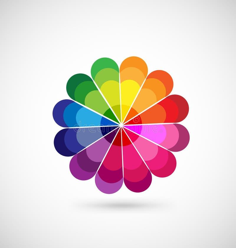 Kolorowa koło palety ikona ilustracja wektor