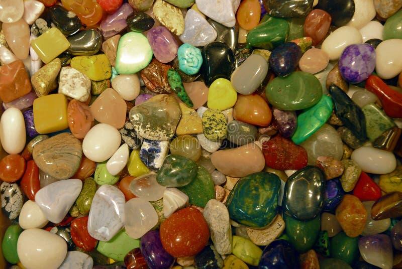 Kolorowa kolekcja semi cenni kamienie obrazy stock