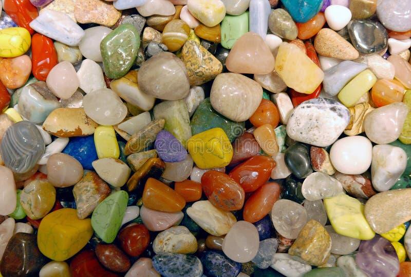 Kolorowa kolekcja semi cenni kamienie fotografia royalty free