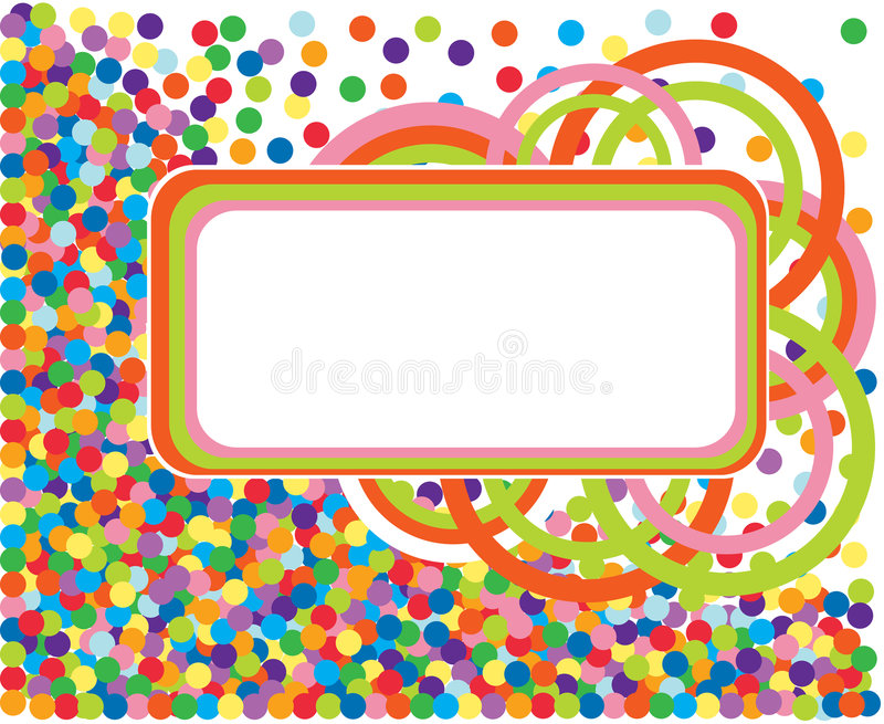 kolorowa konfetti rama ilustracji