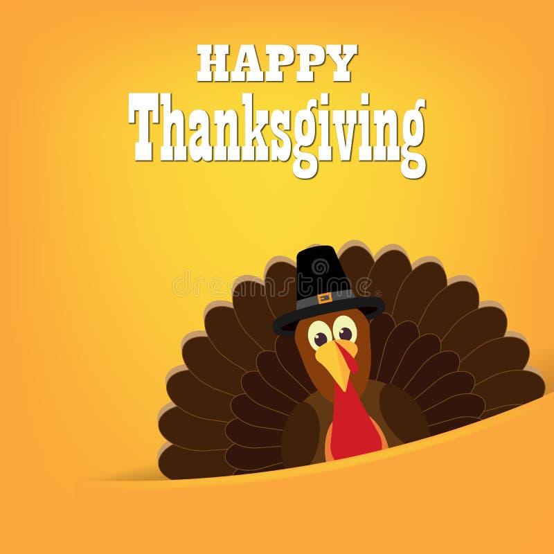 Kolorowa kreskówka indyczy ptak dla Szczęśliwego dziękczynienia świętowania royalty ilustracja