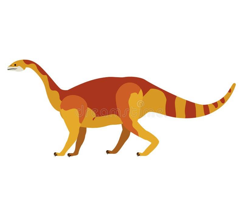 Kolorowa kreskówka z dinosaura mamenchisaurus royalty ilustracja