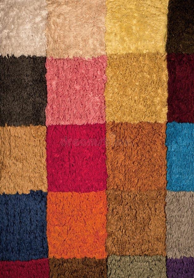 kolorowa kwadratów tekstury wełna obrazy royalty free