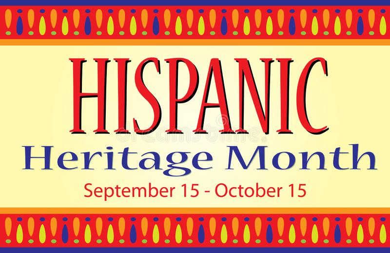 Kolorowa Latynoska dziedzictwo miesiąca sztandaru pocztówka zdjęcie royalty free