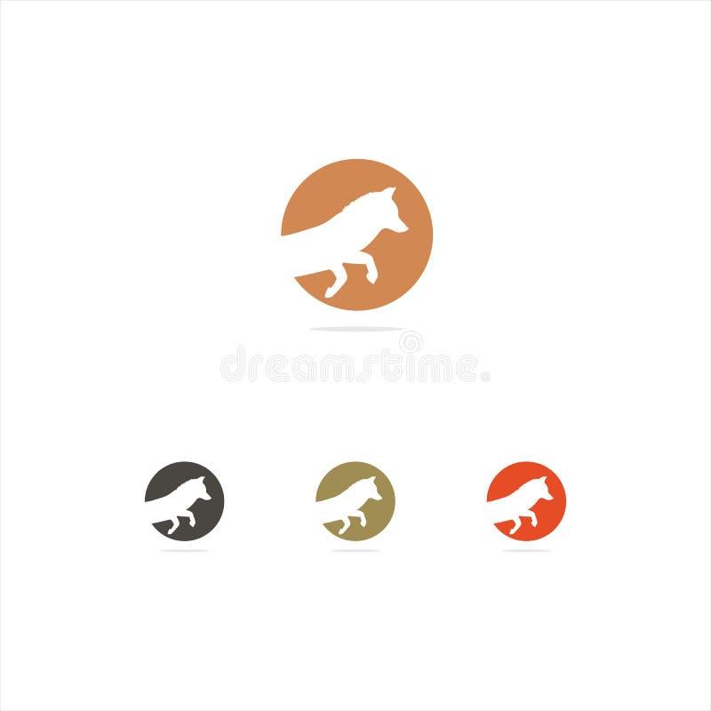 Kolorowa lis ilustracja, bieg, dziki, natura, prędkość, skoku logo wektorowy projekt ilustracja wektor
