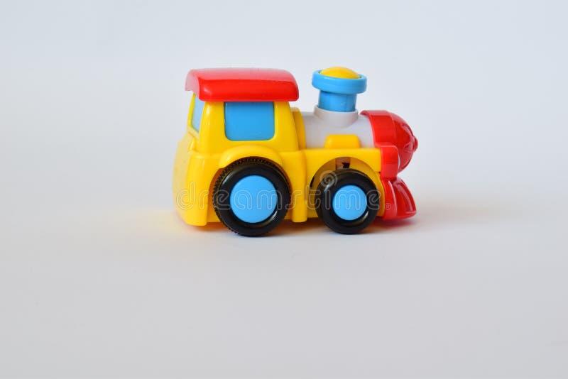 Kolorowa lokomotywa - zabawka dla dzieci fotografia royalty free