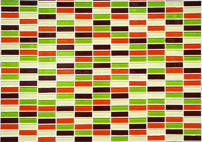 Kolorowa mała płytki ściana zdjęcia royalty free