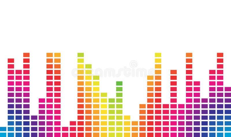 kolorowa muzyczna pojemność ilustracja wektor