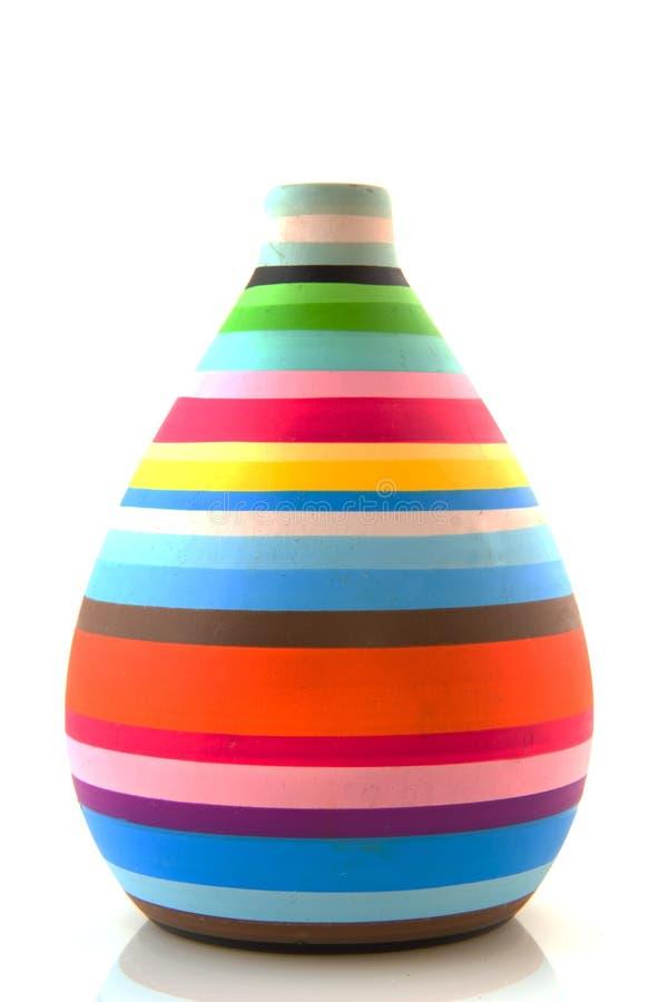 kolorowa nowożytna waza zdjęcie stock