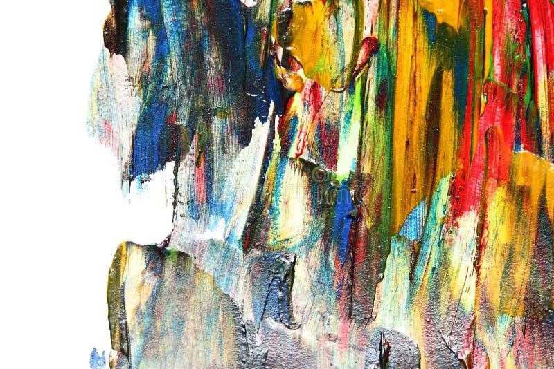 Kolorowa obraz olejny tekstura ilustracji