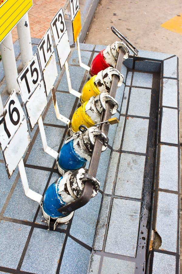 Kolorowa olej napędowy benzyny aptekarka obraz royalty free