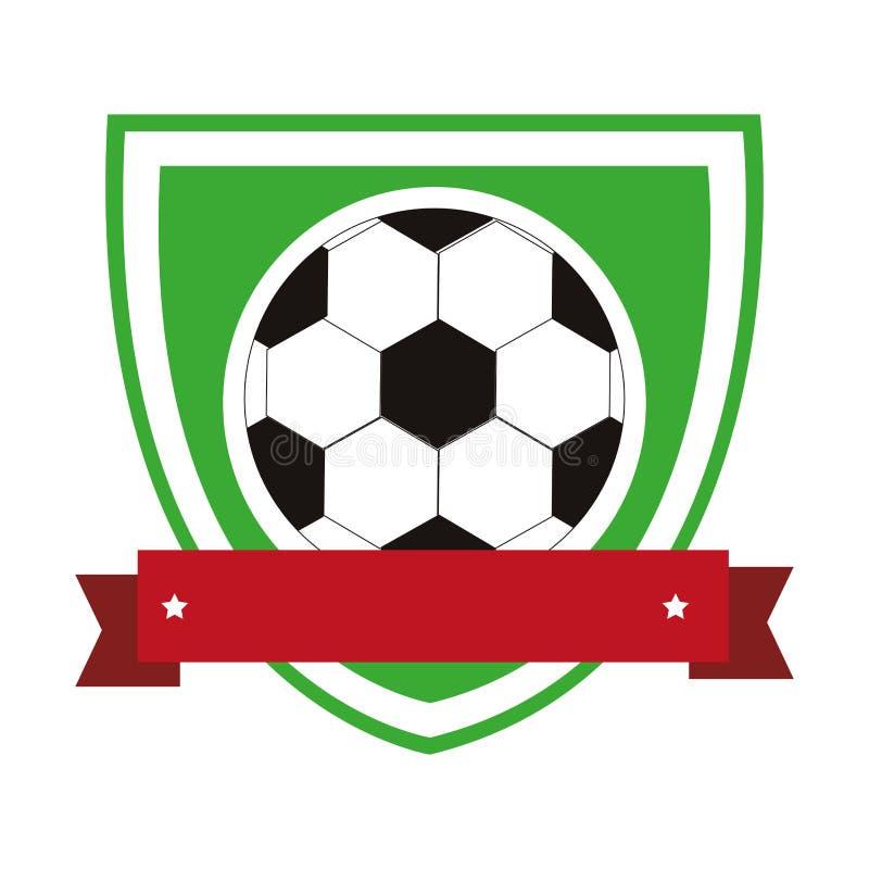 Kolorowa osłona z faborkiem z piłki nożnej piłką ilustracji