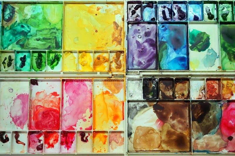 kolorowa paleta fotografia royalty free