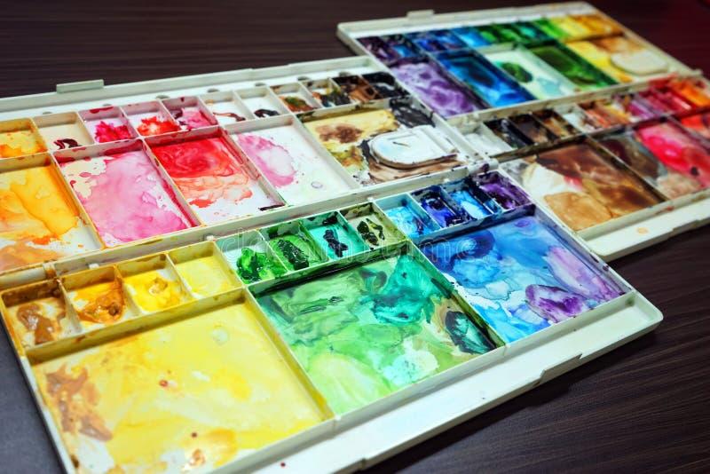 kolorowa paleta zdjęcia royalty free