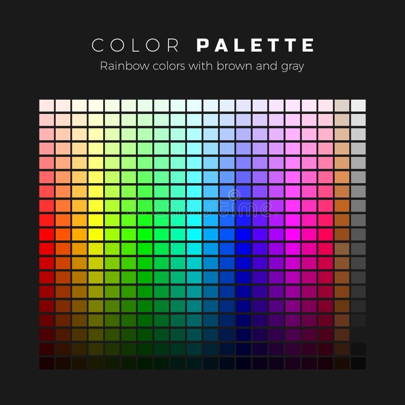kolorowa paleta Pe?ny widmo kolory z br?zu i szaro?? cieniami Set jaskrawi kolory t?czy paleta r?wnie? zwr?ci? corel ilustracji w ilustracji