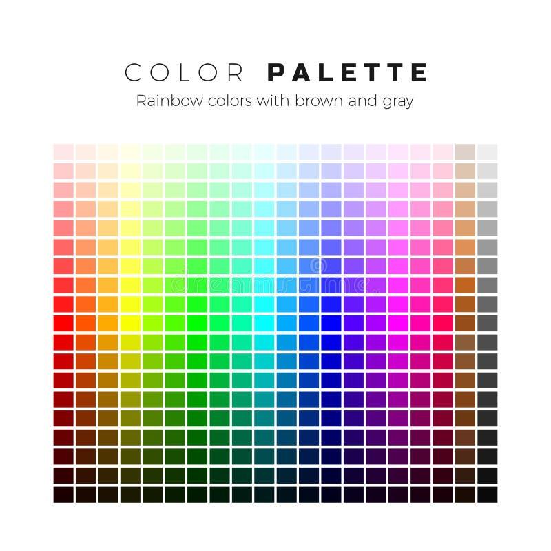 kolorowa paleta Set jaskrawi kolory t?czy paleta Pe?ny widmo kolory z br?zu i szaro?? cieniami r?wnie? zwr?ci? corel ilustracji w royalty ilustracja