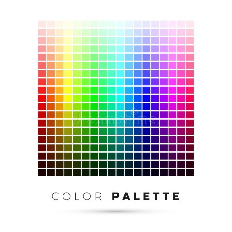 kolorowa paleta Set jaskrawi kolory t?czy paleta Pe?ny widmo kolory r?wnie? zwr?ci? corel ilustracji wektora royalty ilustracja