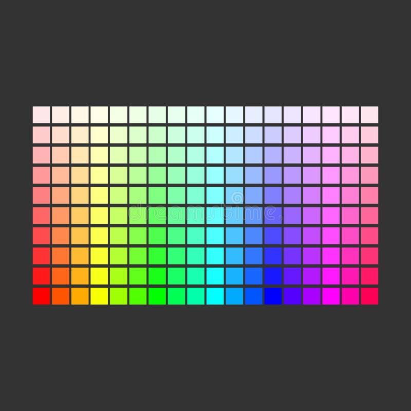 kolorowa paleta Set jaskrawi kolory t?czy paleta r?wnie? zwr?ci? corel ilustracji wektora ilustracja wektor