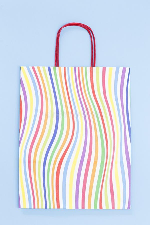 Kolorowa papierowa torba zdjęcia stock