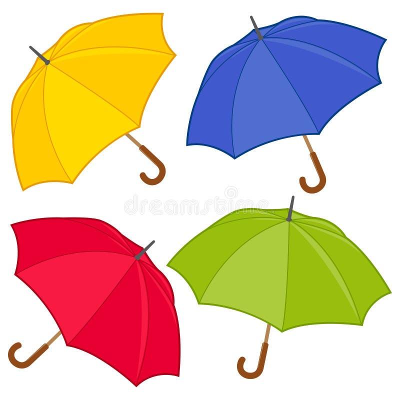 Kolorowa parasola wektoru kolekcja ilustracji