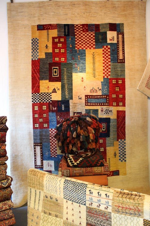 Kolorowa Perska handmade Dywanowa galeria zdjęcia stock