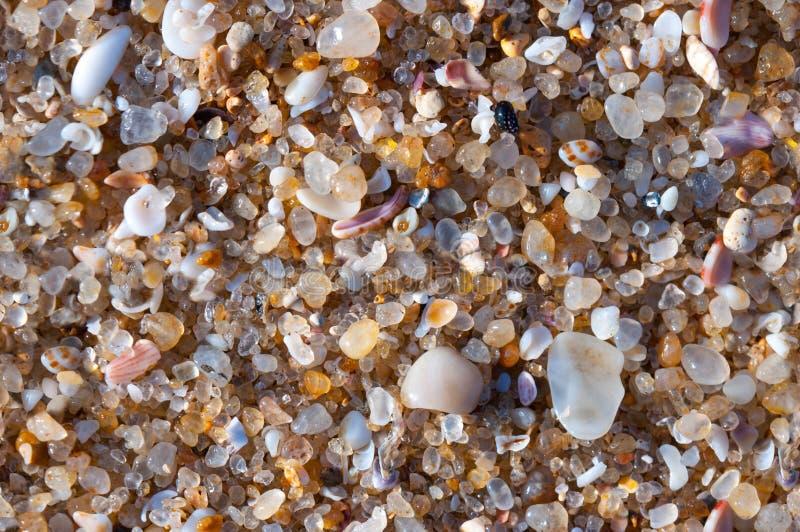 Kolorowa piaska lub otoczaka tekstura bezszwowa konsystencja zdjęcie royalty free