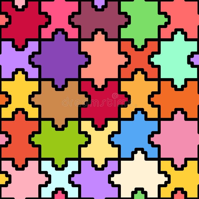 Kolorowa piksel łamigłówka ilustracji