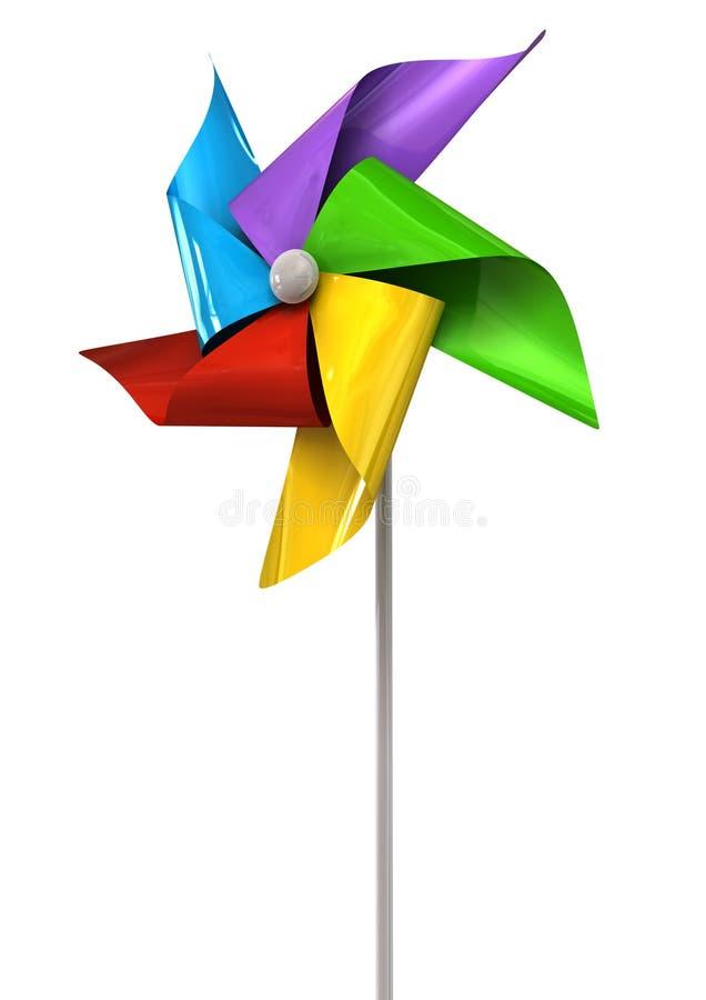 Kolorowa Pinwheel perspektywa ilustracji
